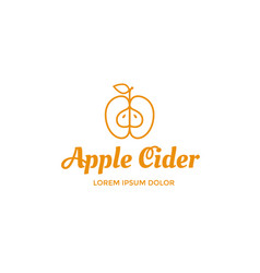 apple cider logo vector image vector image