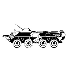 Armored troop carrier vector