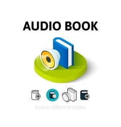 Audio book icon in different style vector image