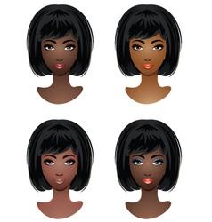 Makeup for african-american women vector
