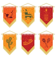 Mexican pennants vector