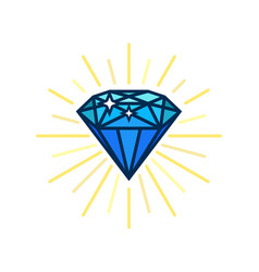 modern diamond flat icon brilliant idea smart vector image