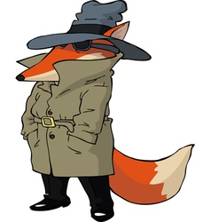 spy fox vector image vector image