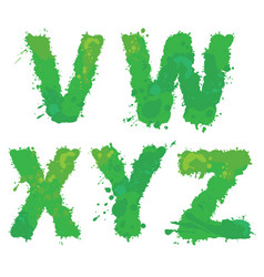 v w x y z handdrawn english alphabet - vector image