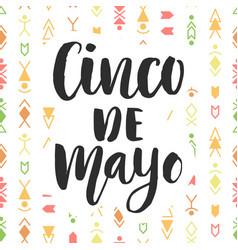 cinco de mayo mexican holiday poster vector image vector image