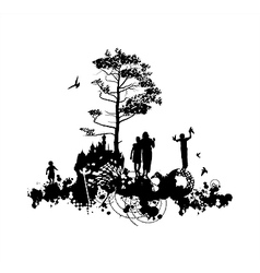 Family Castle Concept vector image