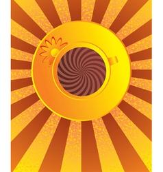 orange cup of coffee vector image