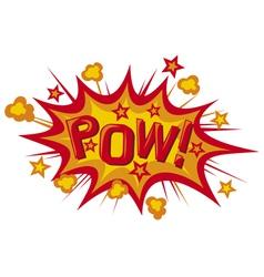 pow comic book vector image vector image
