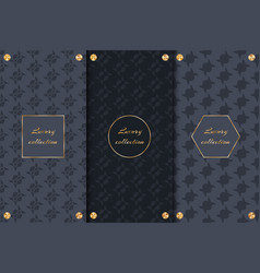 set of chic backgrounds vector image vector image