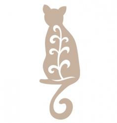 vintage cat vector image vector image