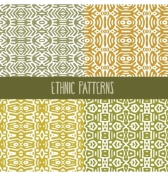 Four Ethnic Patterns vector image