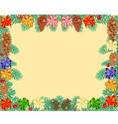 Frame of the branches of spruce decorated vector image