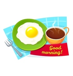 Good morning concept design vector image vector image