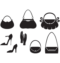 handbag set vector image