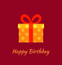 Happy Birthday with Gift vector image