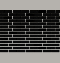 black brick wallpaper vector image