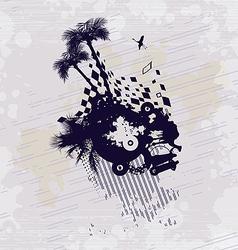 Desert Bedouin Oasis Concept Background vector image vector image