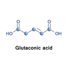 Glutaconic acid organic compound vector