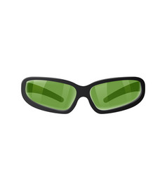 green plastic glasses vector image