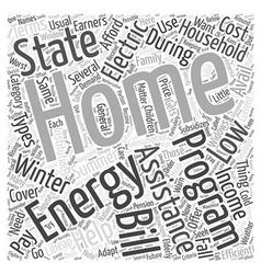 Home energy assistance program word cloud concept vector
