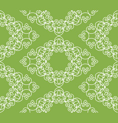 swirl greenery seamless pattern background vector image vector image
