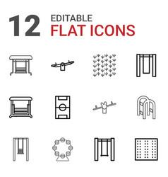 12 playground icons vector