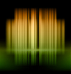 abstract background with orange and green lights vector image