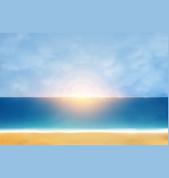 abstract beach summer artwork with natural vector image