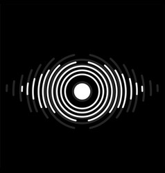 abstract eye of lines logo symbol vector image