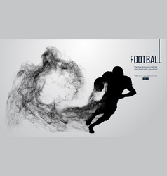 Abstract silhouette a american football player vector