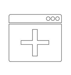 Add new window icon design vector