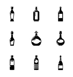 alcohol retort icons set simple style vector image