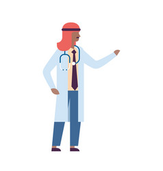 arab man pointing hand medical doctor vector image
