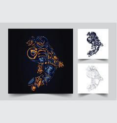 astronaut space artwork vector image