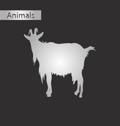 Black and white style icon of goat vector
