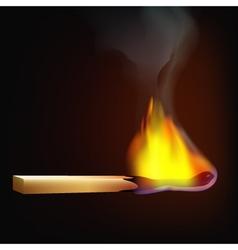 Burning-match-fire-tree vector
