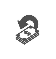 Cashback icon dollar payment sign vector