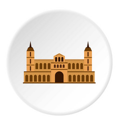 Castle icon circle vector