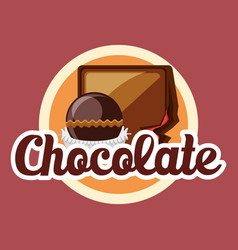 Chocolate candies design vector