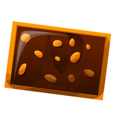 chocolate nut biscuit icon cartoon style vector image