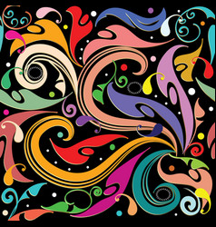 colorful beautiful paisley seamless pattern vector image