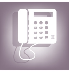 Communication phone icon vector image