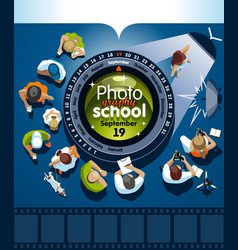 Courses photography poster template vector