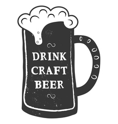 craft beer vector image