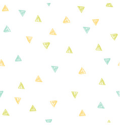 Cute triangles repeated background vector