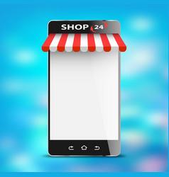 digital electronic online shop market vector image