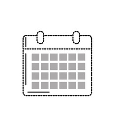 dotted shape calendar to organizar important vector image