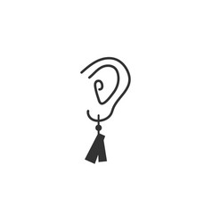earring graphic design template vector image