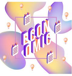 Economic vibrant gradient poster template vector