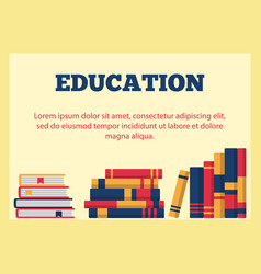 education horizontal banner vector image
